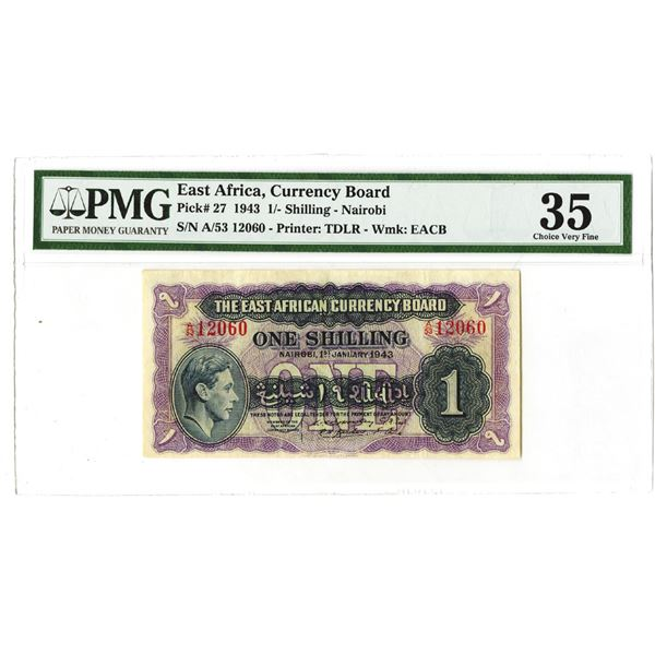 East African Currency Board. 1943. Issued Note.