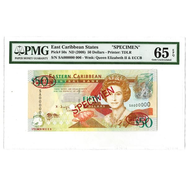 East Caribbean Currency Authority. ND (2008). Specimen Note.
