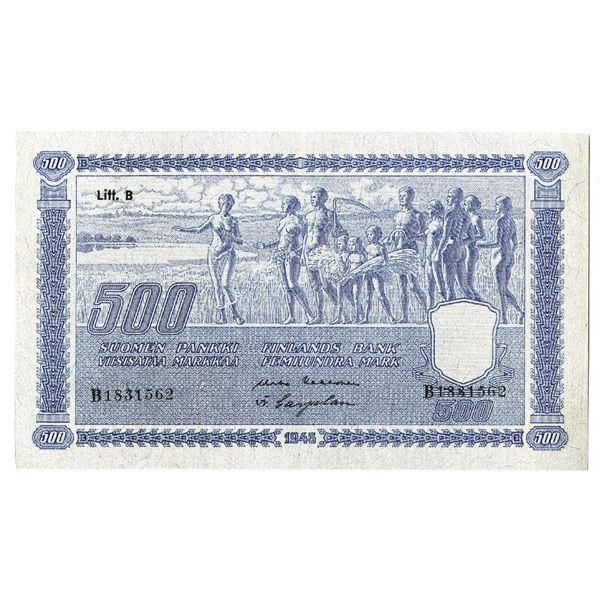 Suomen Pankki / Finlands Bank. 1945 (ND 1948) Issue Banknote.