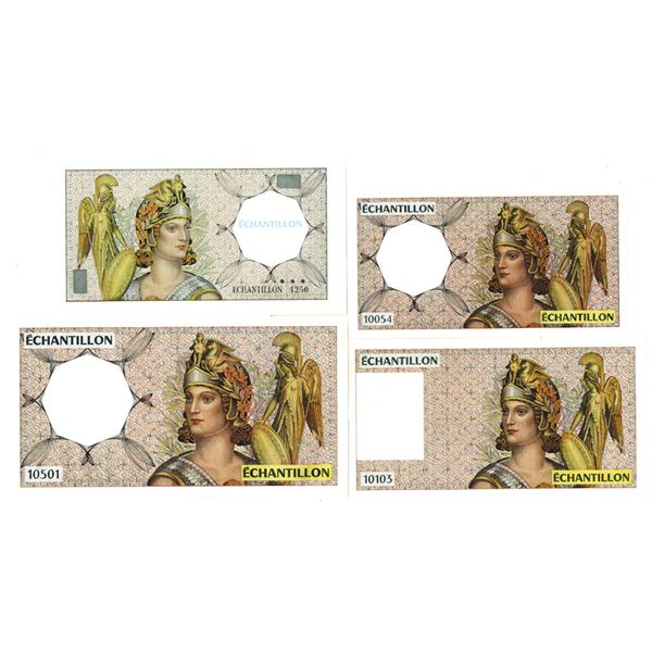 Francois-Charles Oberthur Fiduciaire. ND (ca. 1970s-1990s). Lot of 4 Test Notes.