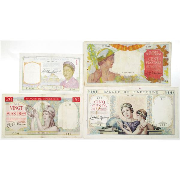 Bank of Indochina, Group of Issued Banknotes, 1932-1949
