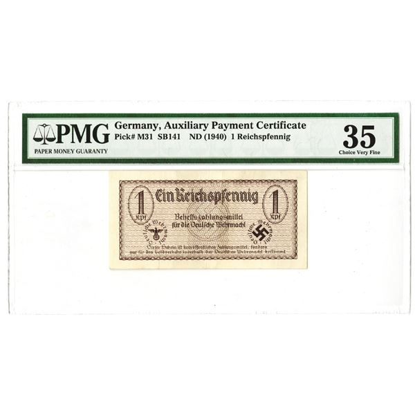 Auxiliary Payment Certificate. ND (1940). Issued Note.