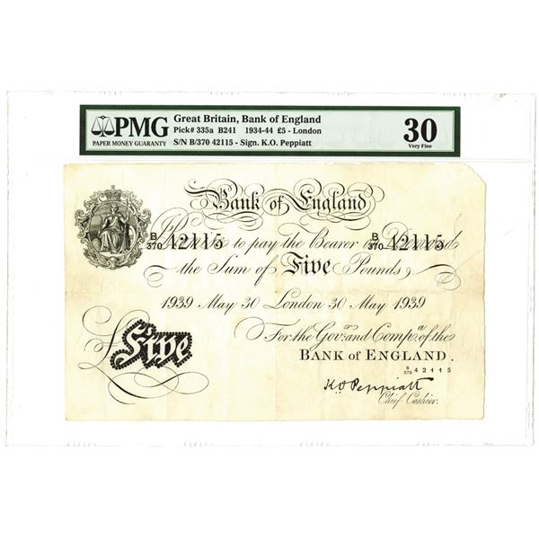 Great Britain, Bank of England, 1934-44 Issued Banknote