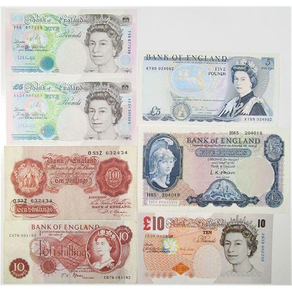 Bank of England & British Armed Forces. ca. 1948-2000. Lot of 15 Issued Notes.