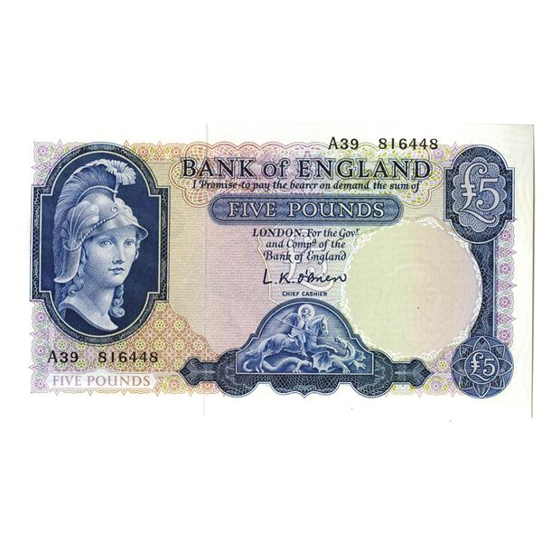 Bank of England. ND 1961-1963). Issued Note.