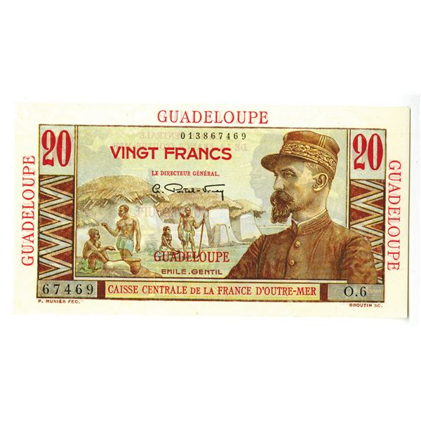Caisse-Centrale de la France d'Outre-Mer. ND (1947-1949) Issue Banknote.