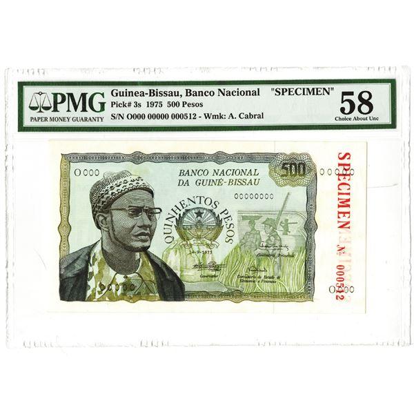 Banco Nacional da Guin_-Bissau. 1975. Specimen Note.