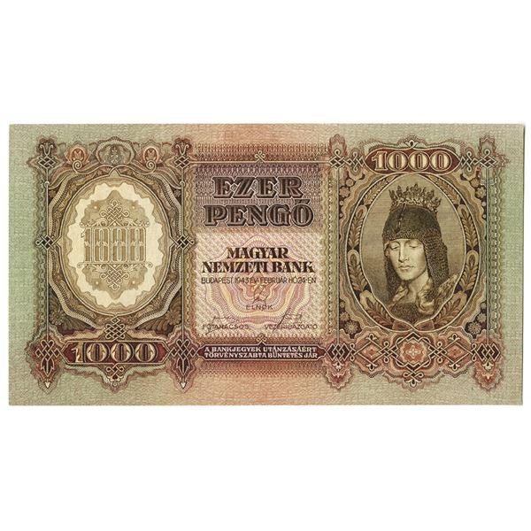 Magyar Nemzeti Bank. 1943 Issue Banknote.