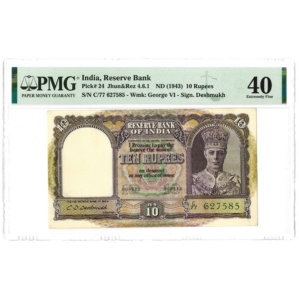 Reserve Bank of India. ND (1943). Issue Banknote.