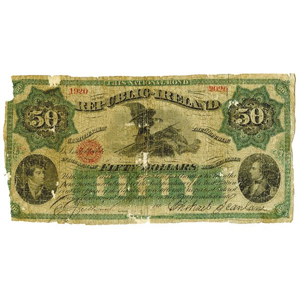 Republic of Ireland, 1866-67 Issued Banknote