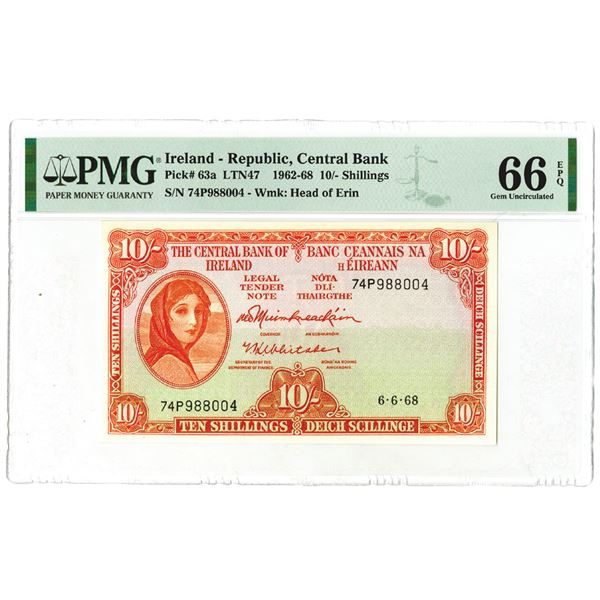 Central Bank of Ireland. 1968. Issued Banknote.
