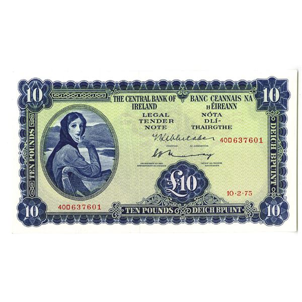 Central Bank of Ireland. 1975 Issue Banknote.