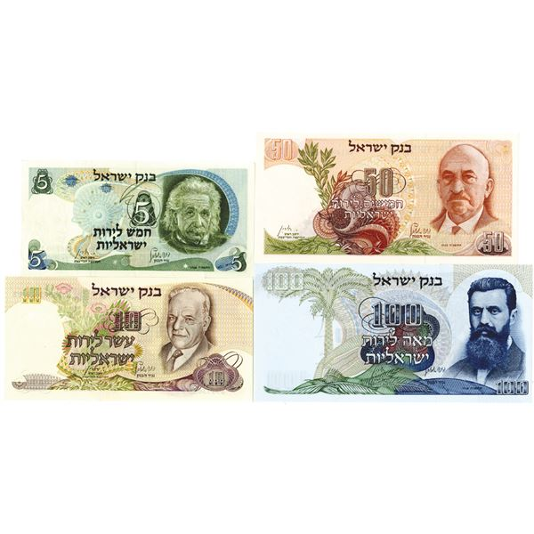 Bank of Israel, Group of Issued Banknotes, 1968