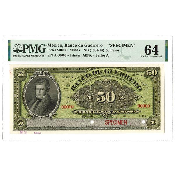 Banco de Guerrero. 1904. Specimen Note.
