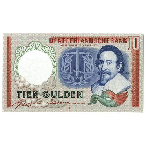 Nederlandsche Bank. 1953. Issued Note.
