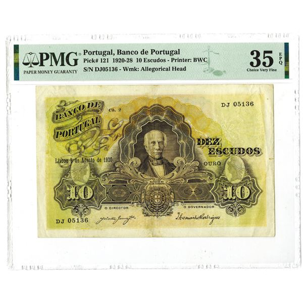 Banco de Portugal, 1920, Issued Banknote.