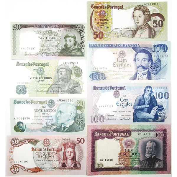 Banco de Portugal. 1961-1993. Lot of 15 Issued Notes.