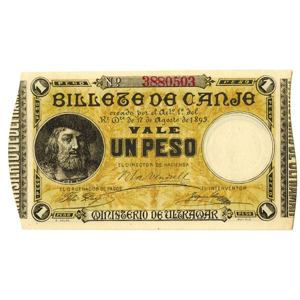 Ministerio de Ultramar. 1895. Issued Note.