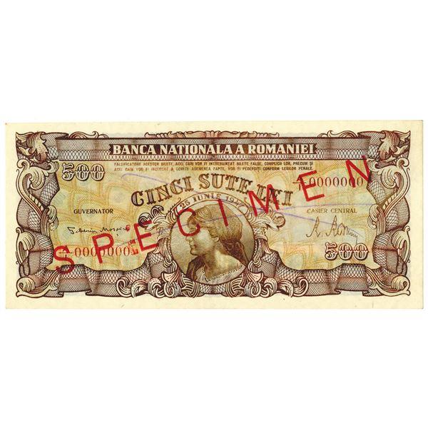 Banca Nationala a Romaniei. 1947. Specimen Note.