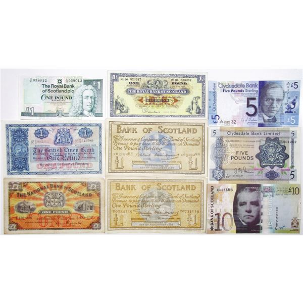 Various Issuers. 1953-2009. Lot of 9 Issued Notes.