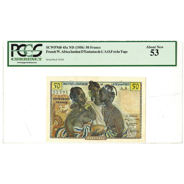 Togo West Africa, ND (1956) Issued Banknote