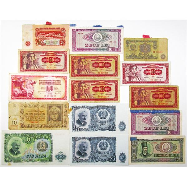 Europe. Issued Banknote Assortment ca.1923-1992
