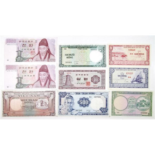 Southeast Asia. Issued Banknote Assortment ca.1950-60's.