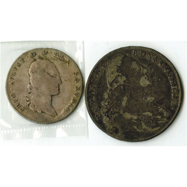 Bavaria and Saxony, German States Silver Coin Pair, 1772-1807
