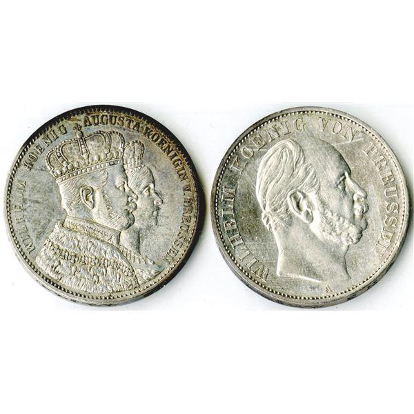 German States Coin Pair, 1861-1871