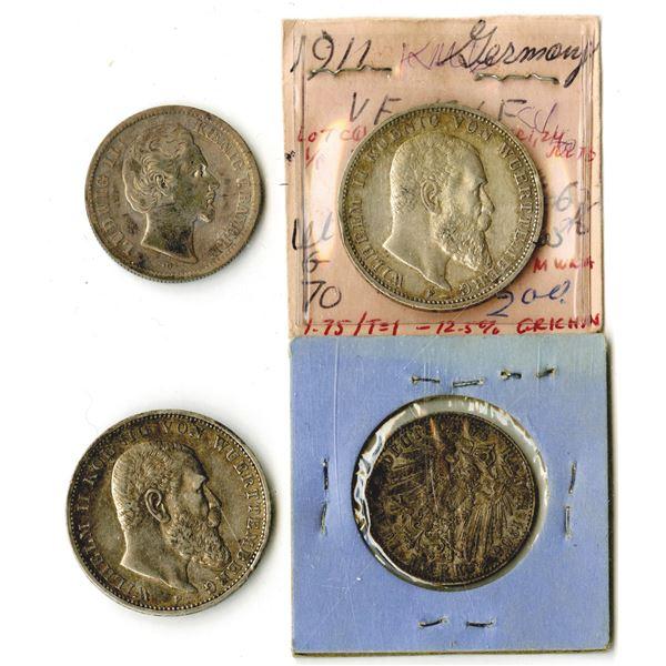 German States Coin Quartet, 1876-1911