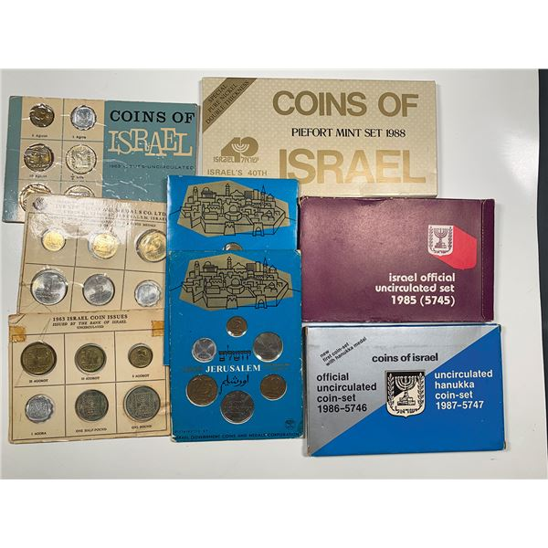Large Group of Israel Coin Sets, ca. 1963-1990