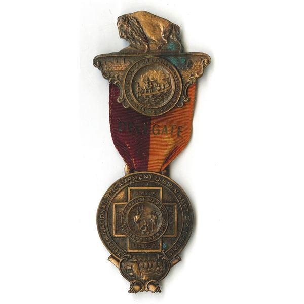 United Spanish War Veterans Souvenir 1913 Medal