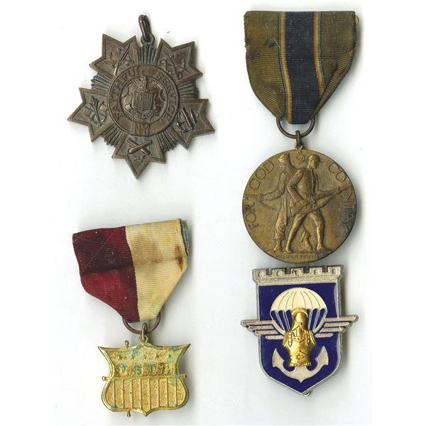 United States WW I & WW II Service Medal Quartet