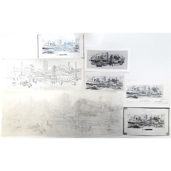 State of Israel, Proof Vignette Production Design Material and Original Artwork