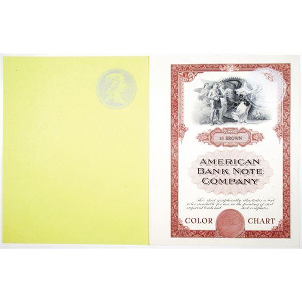 American Bank Note Co. Color Chart & Proof Vignette Pair