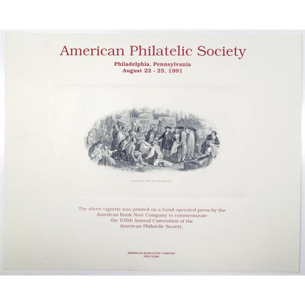 American Philatelic Society 1991 105th Annual Convention Souvenir Card