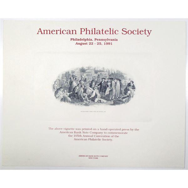 American Philatelic Society 1991 105th Annual Convention Souvenir Card