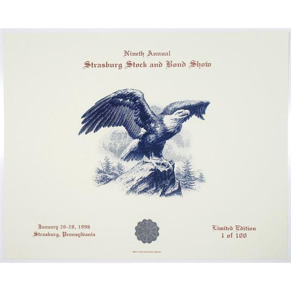 Nineth Annual Strasburg Stock and Bond Show, 1996 Souvenir Card