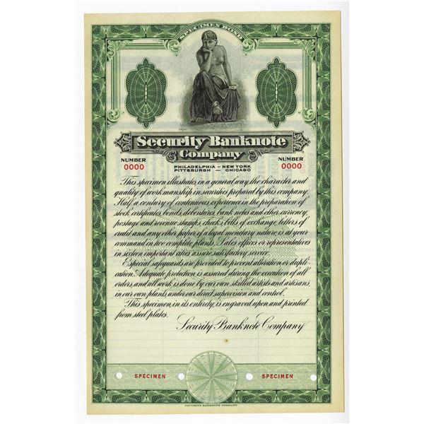 Security Banknote Co. ca.1920's Specimen of a Specimen Miniature Bond.