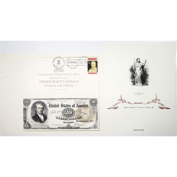 International Paper Money Show, 1991 Souvenir Card & BEP-Federal Managers Association Chapter 216 So