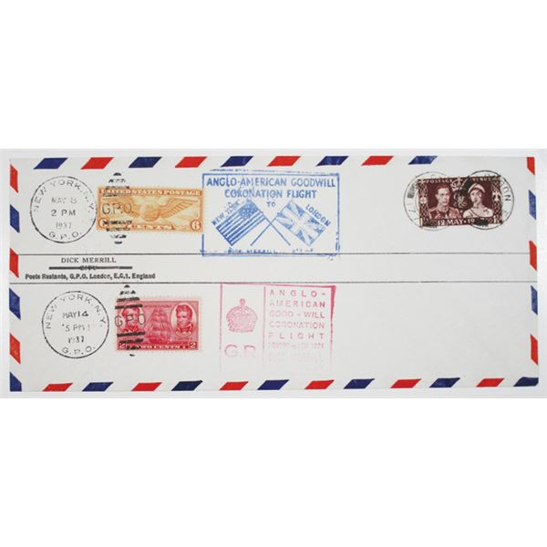 Anglo-American Goodwill Coronation Flight 1937 Cover