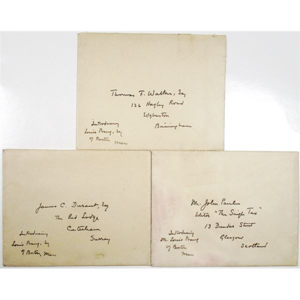 Letters of Introduction for Louis Prang Trio, 1900