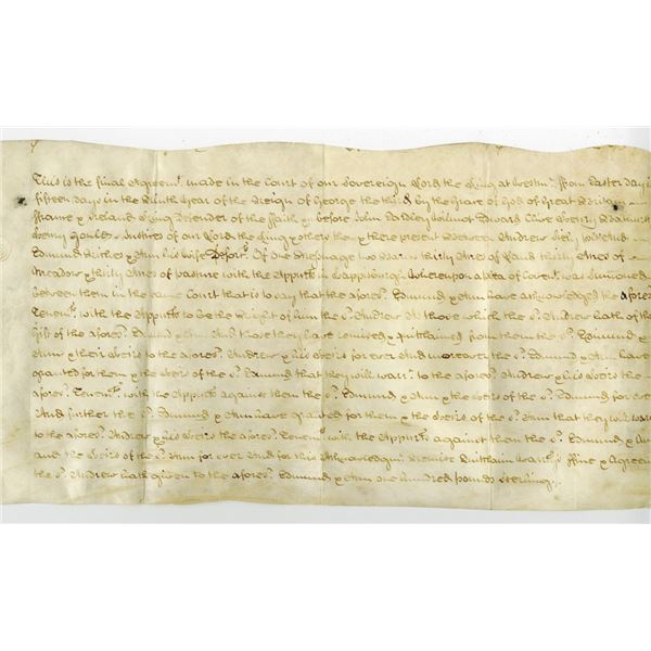 Indented Final Agreement During the Reign of George III, 1769