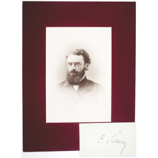 Carl Schurz, ca. 1880-1890's Photograph and Autograph Pair