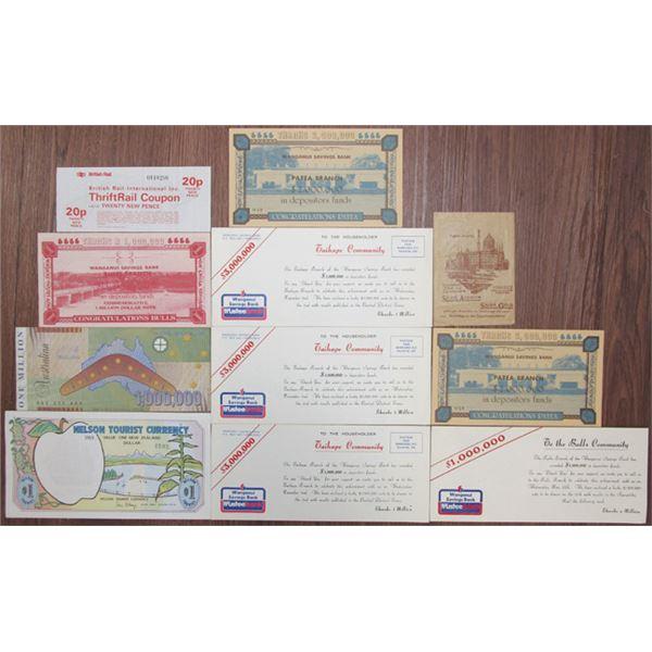 Ephemera Group Lot of Banknotes, Stocks, and Bonds