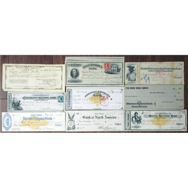 Security Printed Checks, Drafts and Imprinted Revenue Checks with assorted early Item.