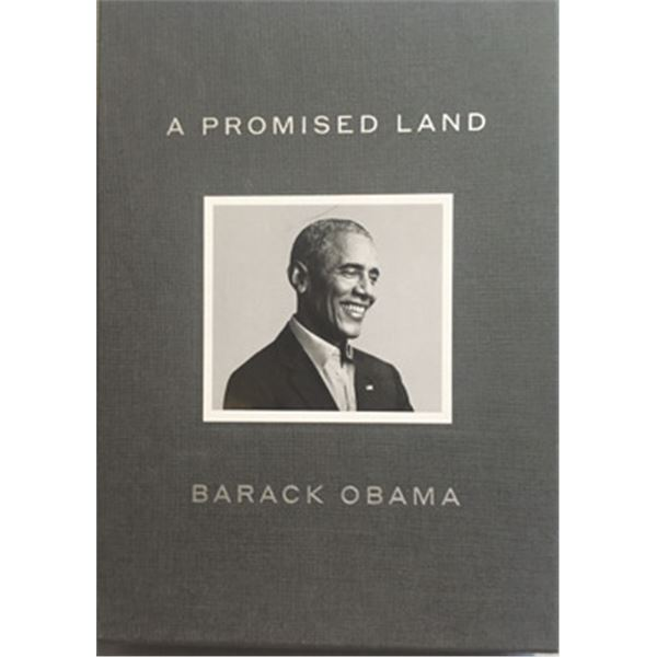 A Promised Land, by Barack Obama, Rare Deluxe Edition Autographed by the Former President