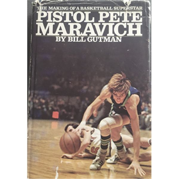 Making of a Basketball Superstar Pistol Pete Maravich, by Bill Gutman with Autographed book by Pete.
