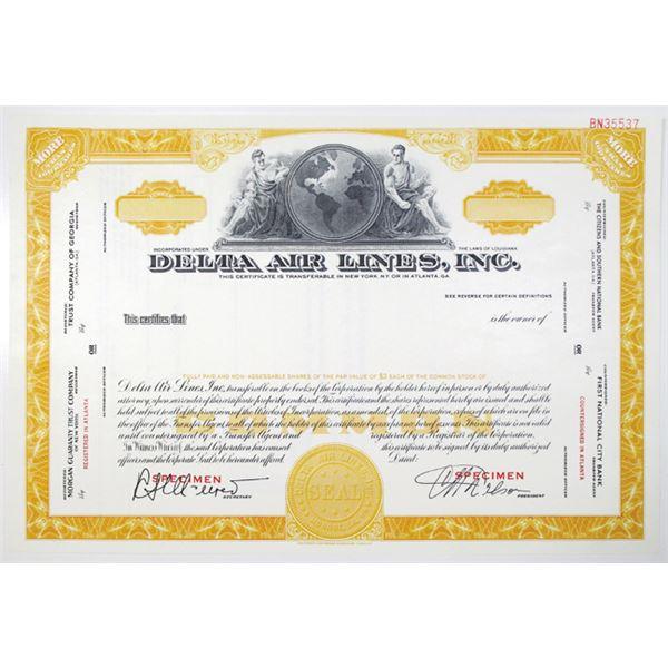 Delta Air Lines, Inc. Specimen Stock Certificate