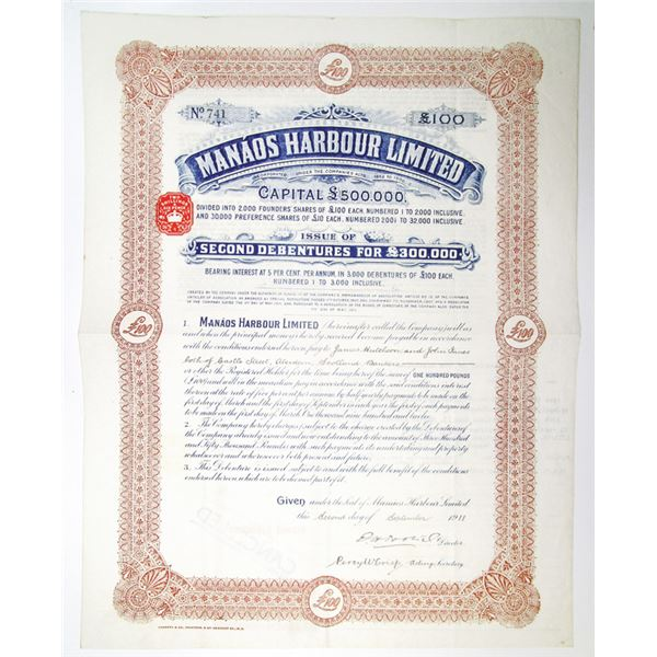 Manaos Harbour Limited 1911 Debenture.